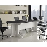Altra Pursuit 105'' Oval Conference Table, White and Gray (9350296)
