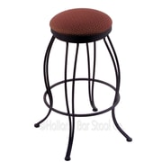 Holland Bar Stool Georgian 30'' Swivel Bar Stool with Cushion; Axis Paprika