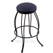 Holland Bar Stool Georgian 25'' Swivel Bar Stool with Cushion; Allante Dark Blue