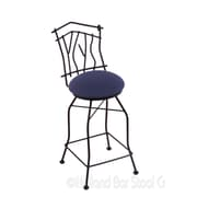Holland Bar Stool Aspen 25'' Swivel Bar Stool with Cushion; Axis Denim
