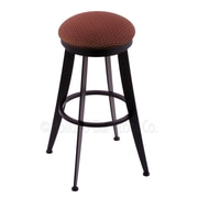 Holland Bar Stool Laser 25'' Swivel Bar Stool with Cushion; Axis Paprika