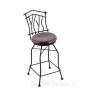 Holland Bar Stool Aspen 25'' Swivel Bar Stool with Cushion; Dark Cherry Oak