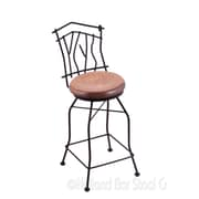 Holland Bar Stool Aspen 25'' Swivel Bar Stool with Cushion; Medium Maple