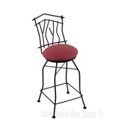 Holland Bar Stool Aspen 25'' Swivel Bar Stool with Cushion; Allante Wine
