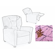Dozy Dotes Four Button Pink Camouflage Cotton Fabric Kids' Recliner Chair