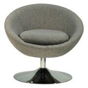 Fox Hill Trading Overman Disc Base Astro Barrel Club Chair; Light Gray