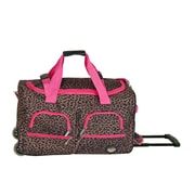 Rockland 30'' 2-Wheeled Travel Duffel; Pink Leopard