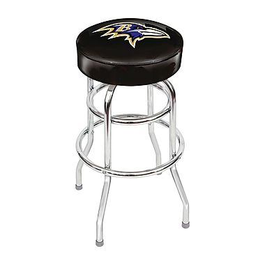 Imperial NFL 30'' Swivel Bar Stool with Cushion; Baltimore Ravens