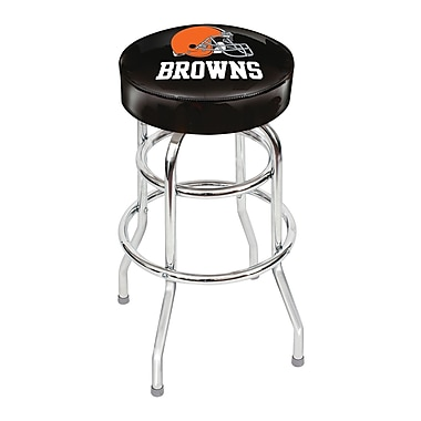 Imperial NFL 30'' Swivel Bar Stool with Cushion; Cleveland Browns