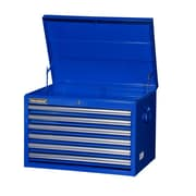 International 26'' Wide 6 Drawer Top Cabinet; Blue