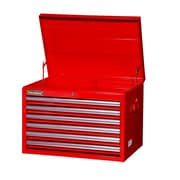 International 26'' Wide 6 Drawer Top Cabinet; Red