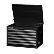 International 26'' Wide 6 Drawer Top Cabinet; Black