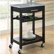 Dorel Living Gibson Kitchen Cart with Granite Top