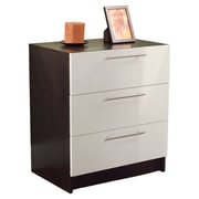 TMS 3 Drawer Chest; White / Espresso