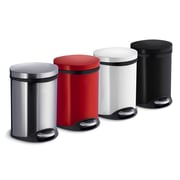 Smedbo Trash Bin with Liner; Brushed Stainless Steel