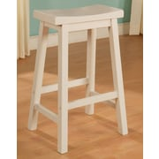 Powell Saddle Bar Stool; White