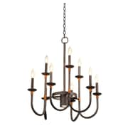 Kalco Bentham 10 Light Candle-Style Chandelier