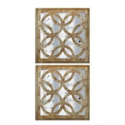 Couture, Inc. Shimmering Silver Montecito Wall Mirror (Set of 2)