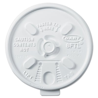 DART CONTAINER CORP Lift n' Lock Lids for Hot Cups,6 - 10 Oz. 1524359