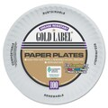 AJM PACKAGING Gold Label White Coated Paper Plate 9in.