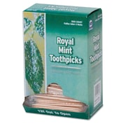 ROYAL PAPER PRODUCTS Mint Cello-Wrapped Wood Toothpicks