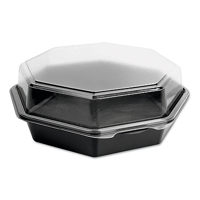 SOLO CUP COMPANY Plastic Hinged Octagon Containers 1524178