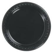 """HUHTAMAKI FOODSERVICE Black Plastic Plate 7"""""""