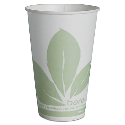 SOLO CUP COMPANY Treated Wax Compositable Paper Cups 1522652