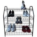 ATH Home Contemporary 4 Tier Shoe Rack; Black