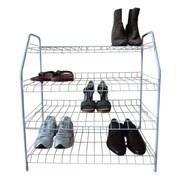 ATH Home Contemporary 4 Tier Shoe Rack; White