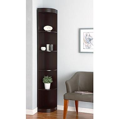 Hokku Designs 76.75'' Tray Corner Bookcase