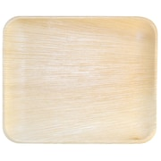 Leaf & Fiber 12.5'' Compostable and Sustainable Fallen Palm Leaf Plate (Set of 100)