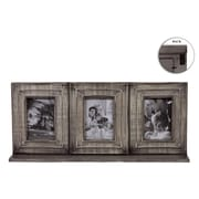 Urban Trends Wood Picture Frame with 3 Openings Washed Wood Finish