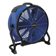 XPower Professional 16'' Floor  Fan with Built-In Power Outlets and 3-Hour Timer