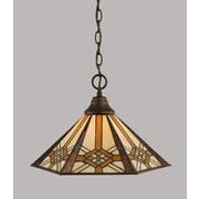 Toltec Lighting 1 Light Mini Pendant; Bronze