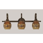 Toltec Lighting Curl 3 Light Vanity Light