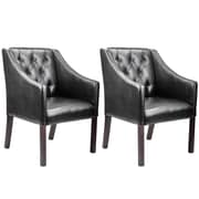 CorLiving™ Antonio Bonded Leather Accent Club Chair, Black