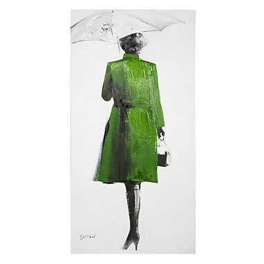Home Details Painting Lady in Green