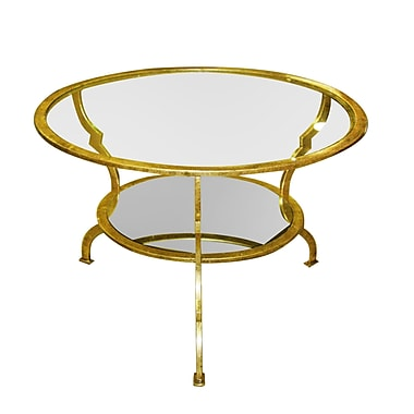 Home Details Round Coffee Table, Gold