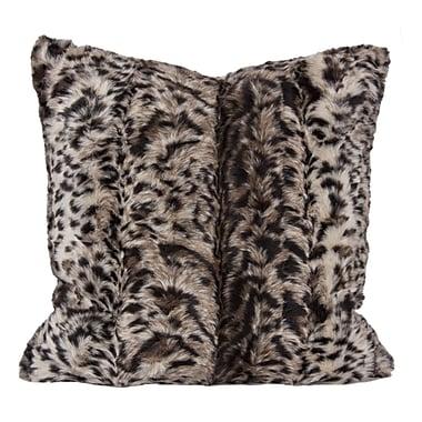 Home Details Leopard Faux Fur Pillows
