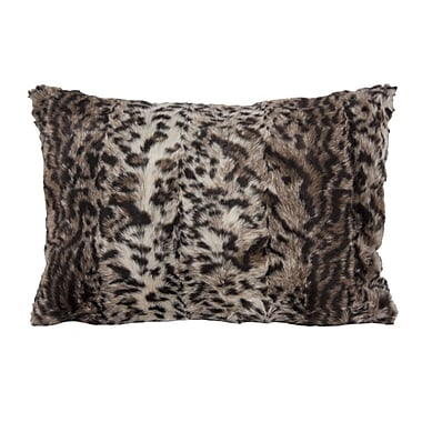 Home Details Leopard Faux Fur Pillow, 14