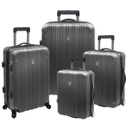 Traveler's Choice New Luxembourg 4 Piece Expandable Hard-Sided Luggage Set; Titanium