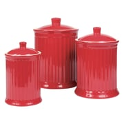 Omniware Simsbury 3 Piece Canister Set; Red