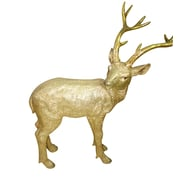 Alpine Deer Statue Christmas Decoration I; Gold