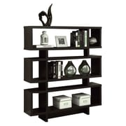 Monarch Specialties Inc. Thee 54.5'' Standard Bookcase; Cappuccino