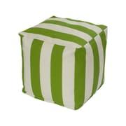 OC Fun Saks Cabana Bean Bag Cube Ottoman; Sage