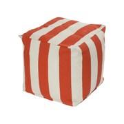 OC Fun Saks Cabana Bean Bag Cube Ottoman; Orange