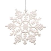 Vickerman Snowflakes Glitter Christmas Christmas Ornament (Set of 12); White