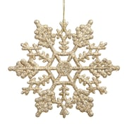 Vickerman Snowflakes Glitter Christmas Christmas Ornament (Set of 12); Champagne