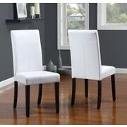 Modus Urban Seating Parsons Chair I (Set of 2); White